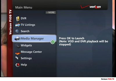 FiOS TV Media Manager Main Menu.JPG