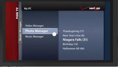 FiOS TV Media Manager Photo Manager Main Menu.JPG