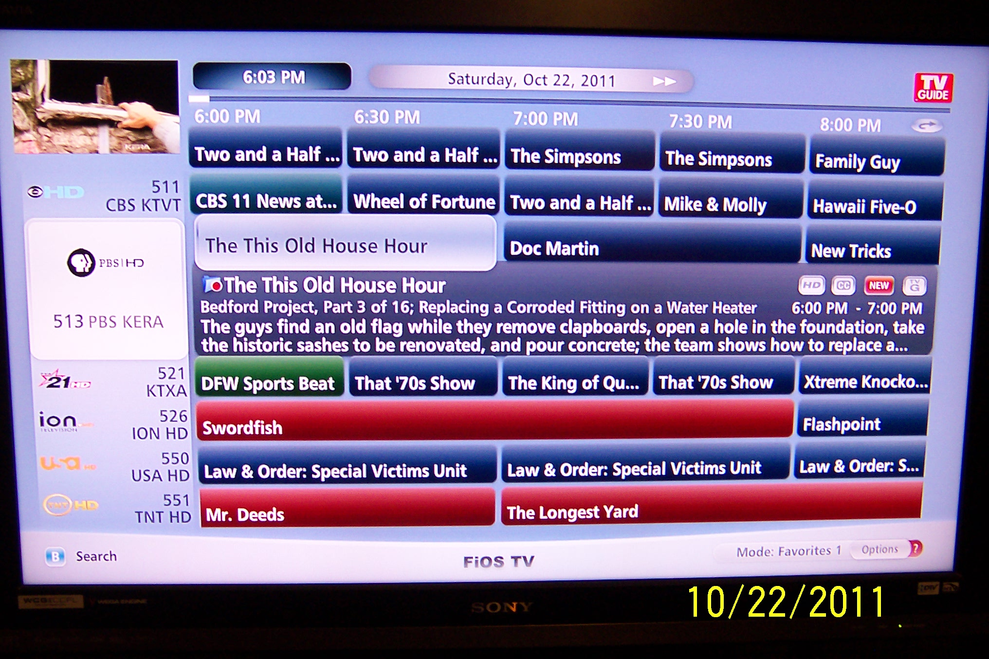 cable one tv guide channel
