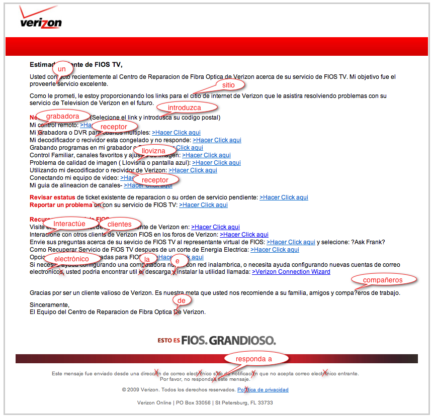 Verizon E-Mail