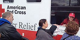 Red Cross food truck