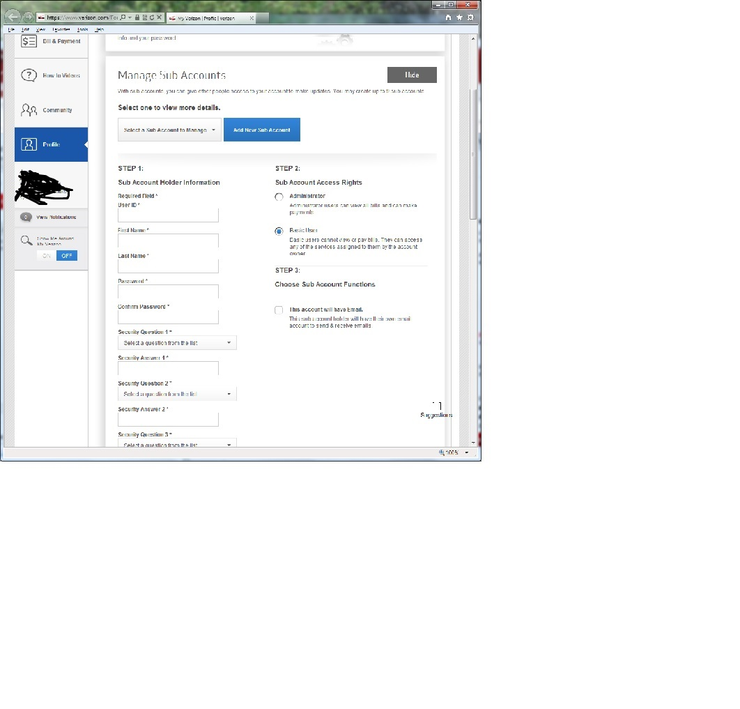 how to create a new email account verizon