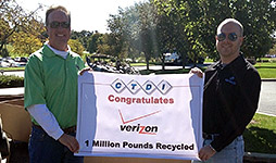 1 million pounds of e-waste collected