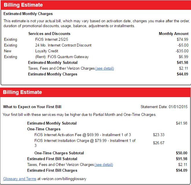 Charged With Installation And Activation Fee Verizon Fios Community