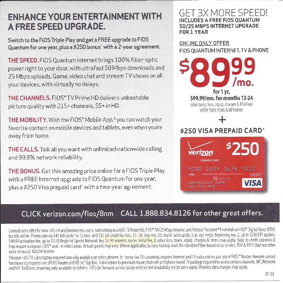 Image result for The latest Fios Triple Play offer comes with an exciting bonus