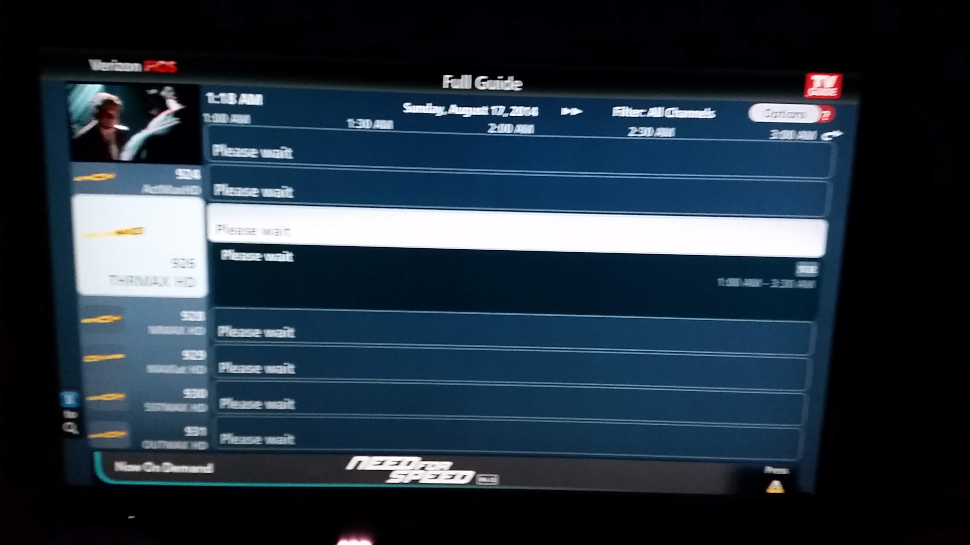 guide help please- everything says please wait - verizon fios