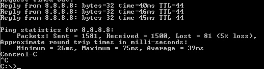 Packet Loss issue , 5% packet Loss , Ethernet Cable !!!! no WiFi
