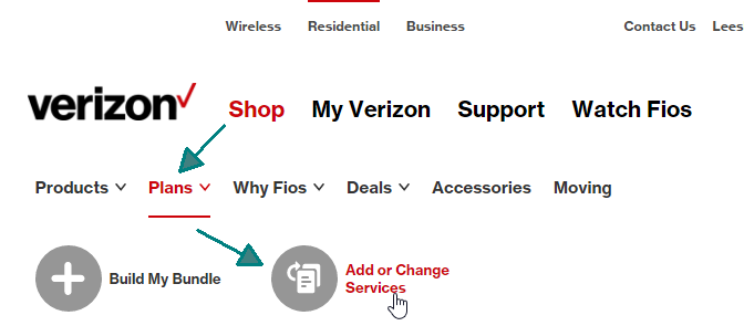 verizon residential support