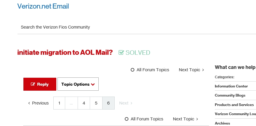 Solved: initiate migration to AOL Mail? - Page 3 - Verizon Fios ...