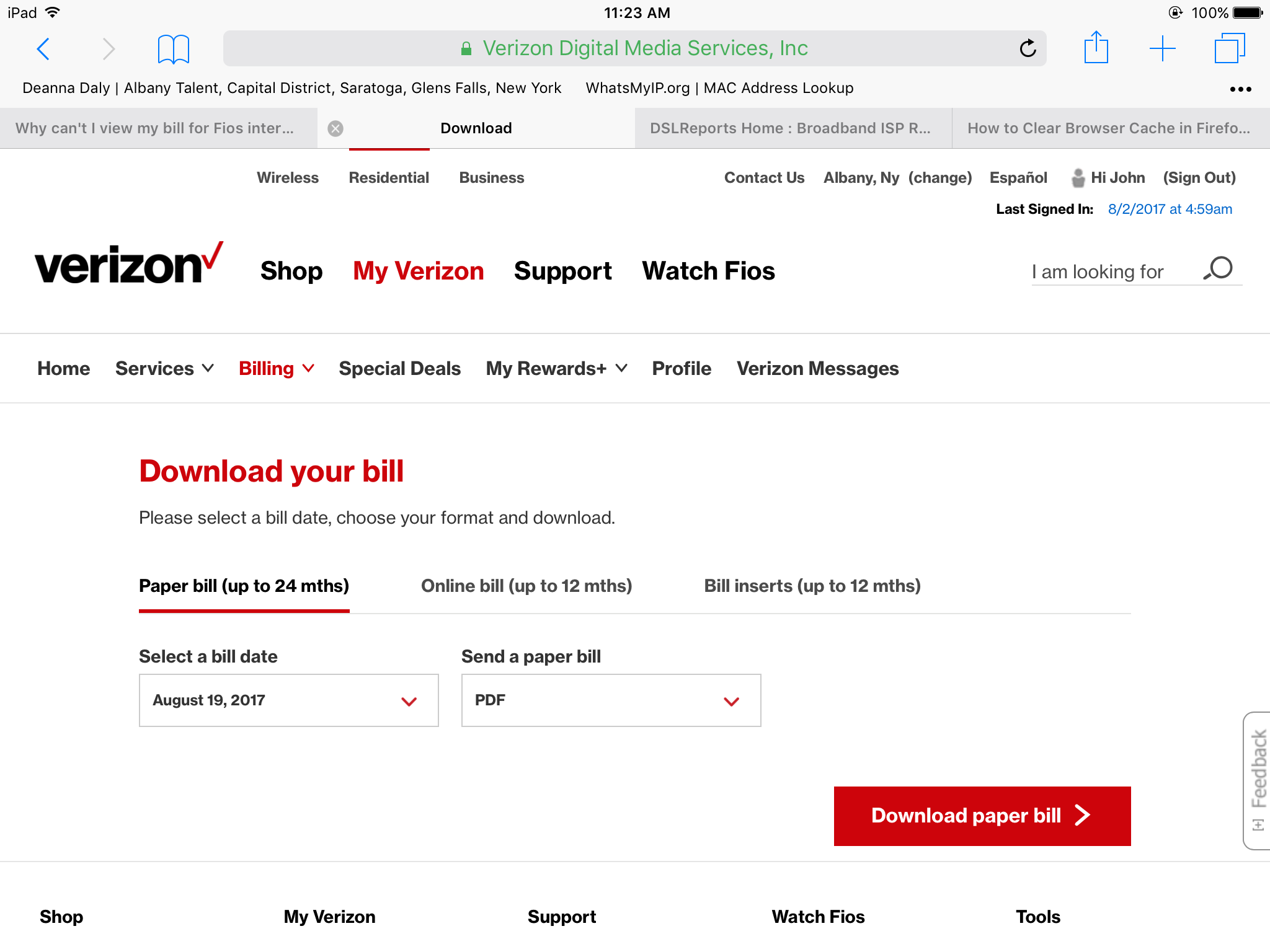 why can 39 t i view my bill for fios internet after i log in online verizon fios community. Black Bedroom Furniture Sets. Home Design Ideas