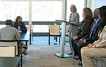 Students at City Poly get mentoring and career advice from Verizon senior executives.